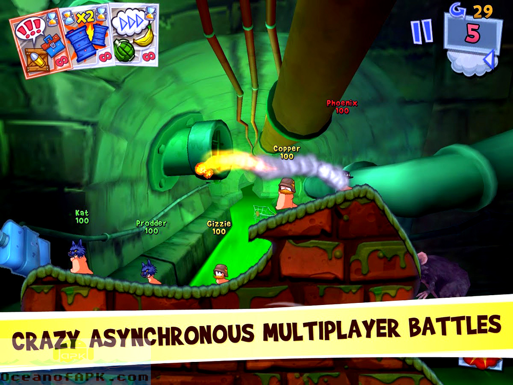 Worms 3 APK Features