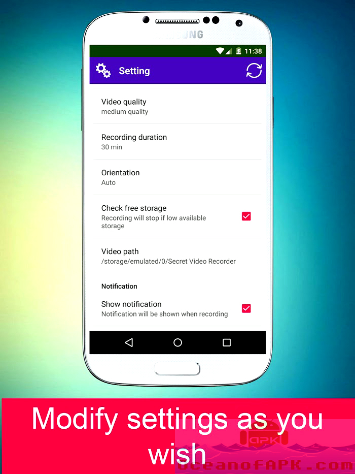 Secret Video Recorder Pro APK Features