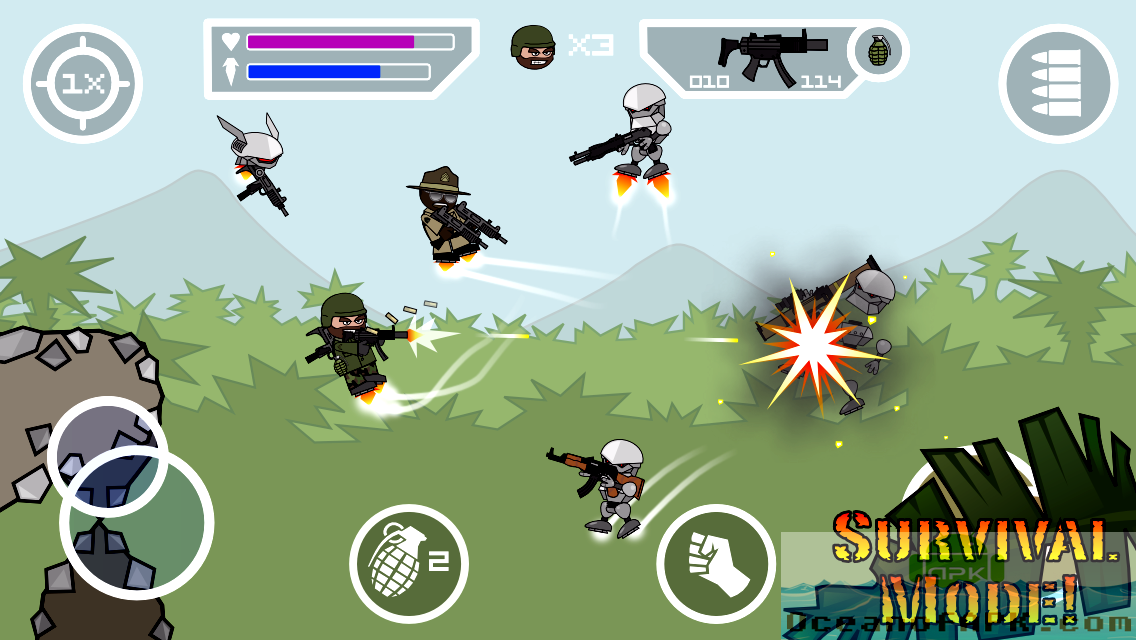 Doodle Army 2 Mini Militia Unlocked APK Features