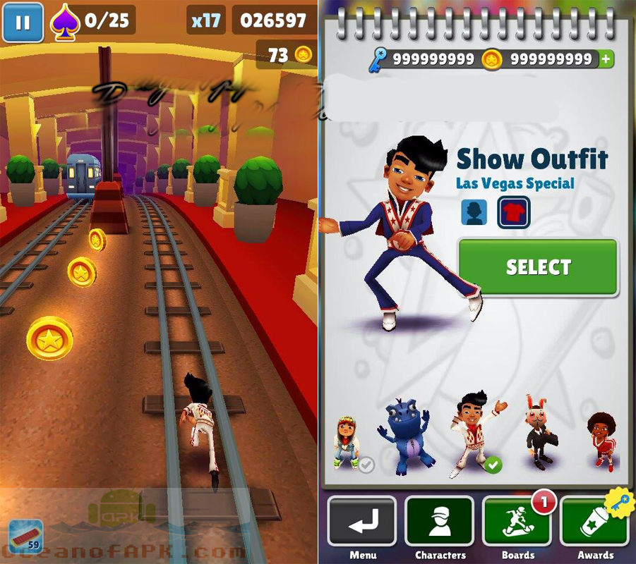 Subway Surfers APK Las Vegas Mod Unlimited Download For Free