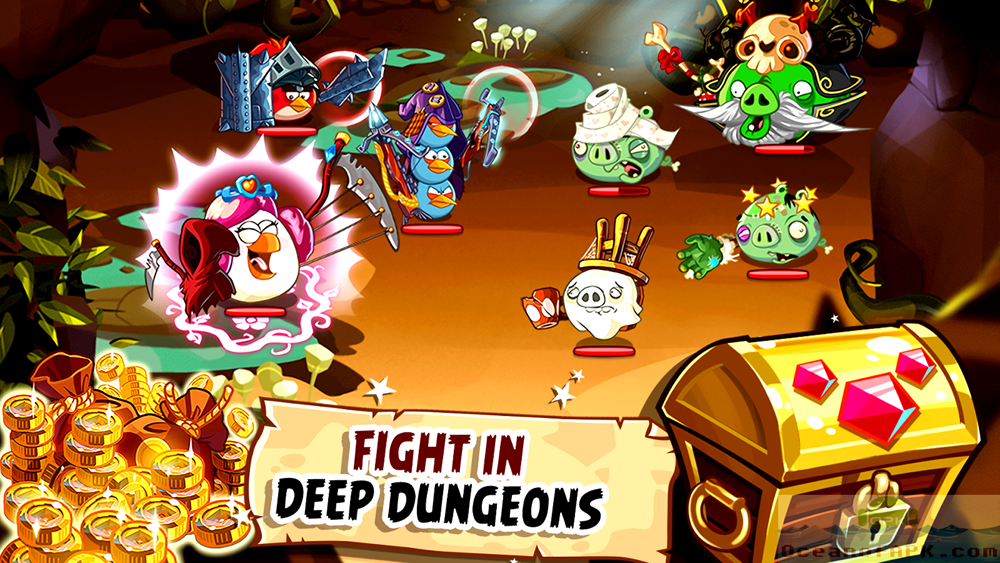 Angry Birds Epic RPG Mod Unlimited APK Features