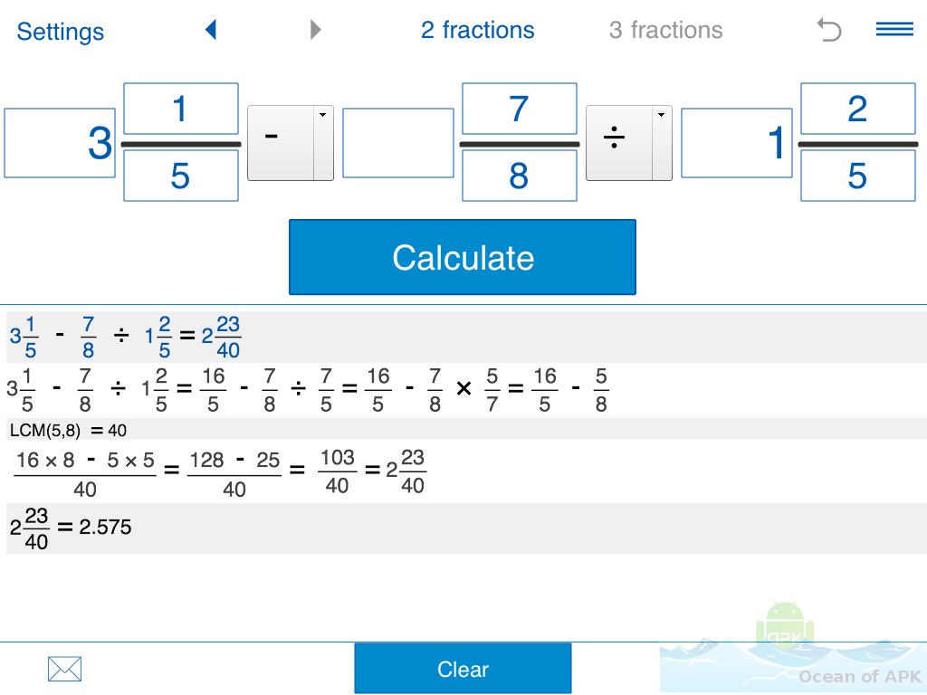 Fraction Calculator Mathlab PRO APK Free Download