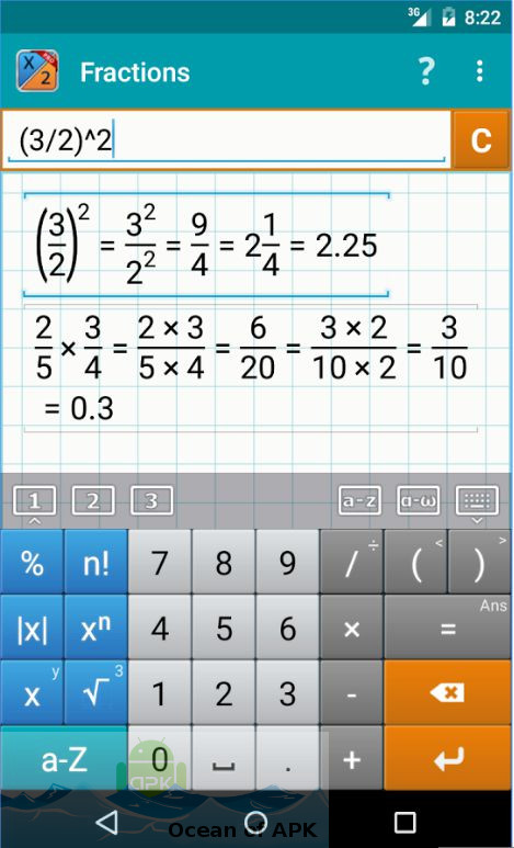 Fraction Calculator Mathlab PRO APK Features