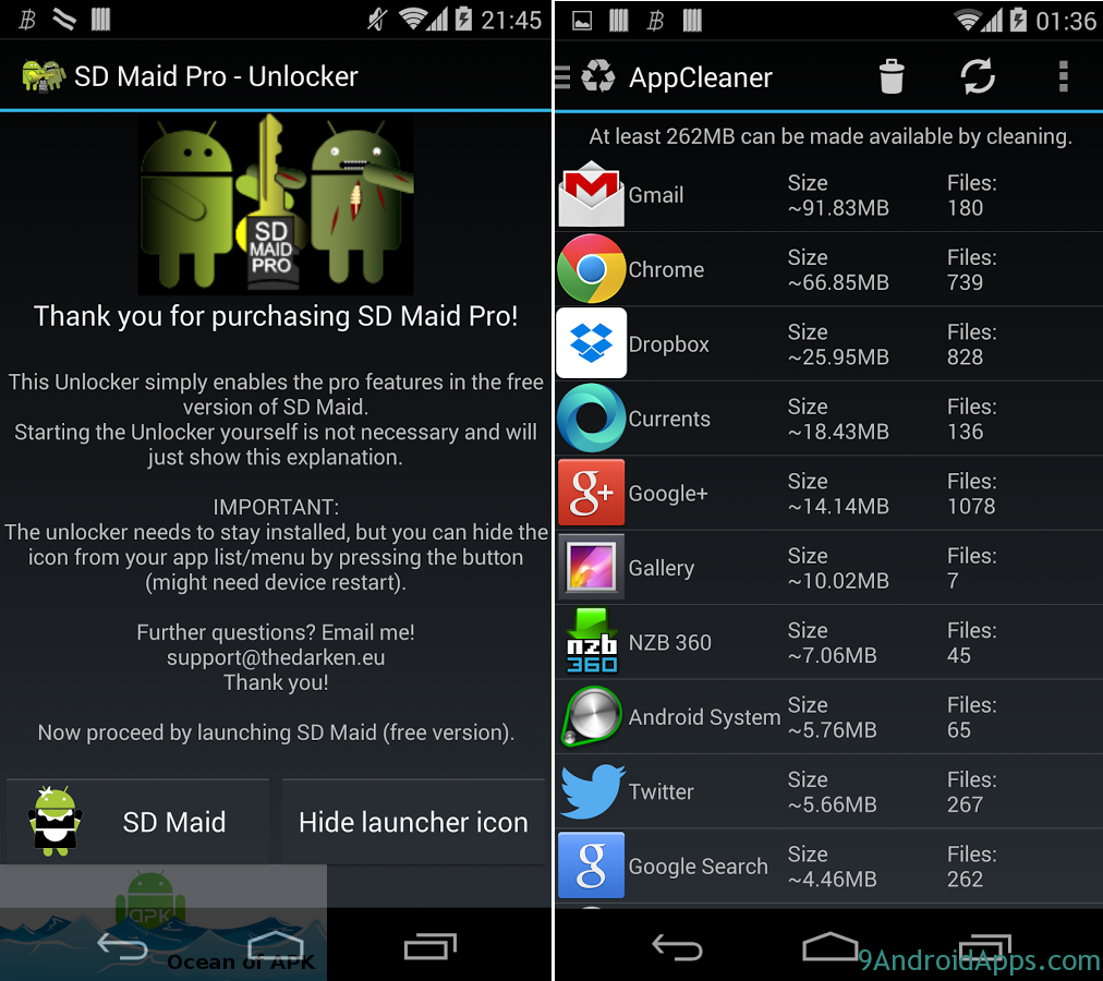 sd maid apk android 2.3.6