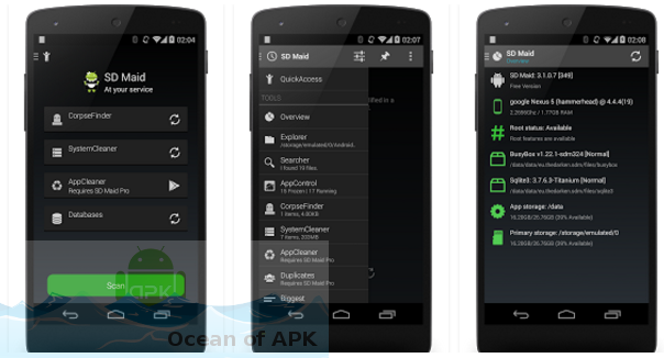 SD Maid System Cleaning Tool APK Features
