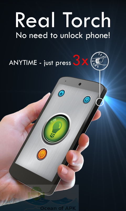Power Button FlashLight Torch v3.0 build 65 Features