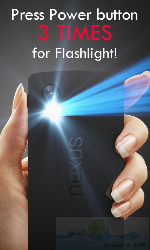 Power Button FlashLight Torch v3.0 build 65 Setup Free Download