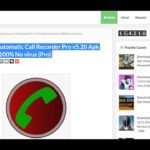 Automatic Call Recorder Pro v5.26 Free APK Download
