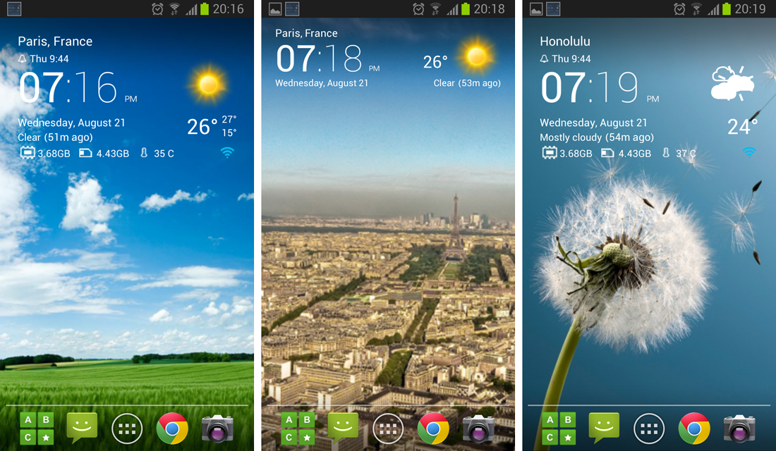 Transparent clock weather Pro APK Free Download