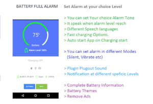 Free Battery Full Alarm and Battery Low Alarm v32 APK Download