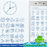 Sheet of notebook | Xperia™ Theme + icons v3.0.001 [Paid] APK Free Download