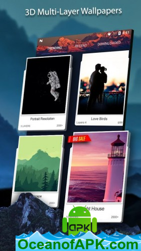 3D Wallpaper Parallax 2018 v4.6.0 build 185 [Pro] APK Free Download