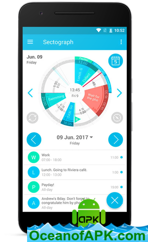 Sectograph  Planner & Time manager on clock widget v5 10 2