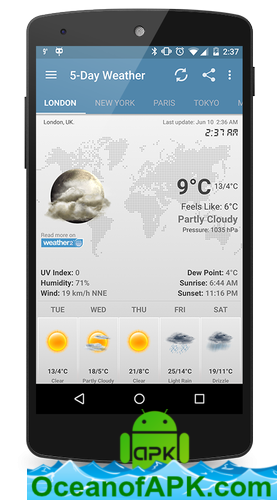 Weather & Clock Widget Android v6 0 0 1 [AdFree] APK Free Download