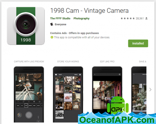 1998 Cam - Vintage Camera v1 5 1 [Pro] APK Free Download