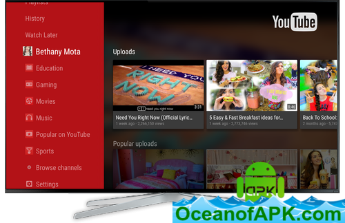 youtube apk free download for mi tv