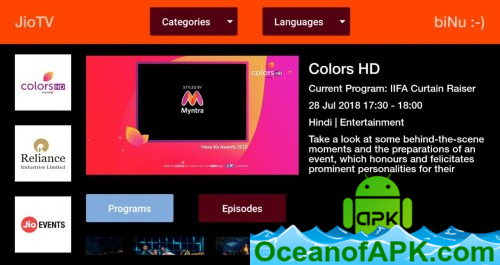JioTV For Android TV v1 0 4 [Mod][FireStick, Chromecast] APK
