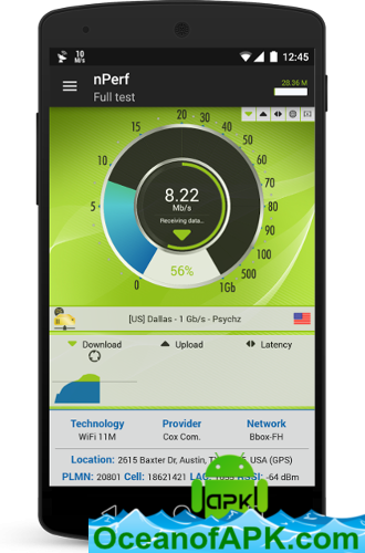 Speed test 3G, 4G LTE, WiFi & network coverage map v2 4 9 [Premium