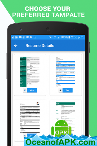 Professional Resume Maker Cv Builder Pdf Format V1 0 7 Pro Apk Free Download Oceanofapk