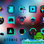ATOMIC – Dark Retro Future Icons v3.8 [Patched] APK Free Download