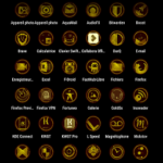 GoldOx – The Golden Icon Pack v48.0 [Patched] APK Free Download