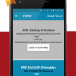 E2PDF Pro – SMS and Call Backup with Restore v 05.8.20 [Paid] APK Free Download