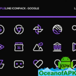 PurpleLine Icon Pack : LineX Purple Edition v1.0 (Patched) APK Free Download